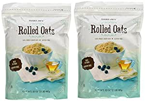 Trader Joe's Whole Grain, Gluten Free Rolled Oats - Two 32 oz. Bags
