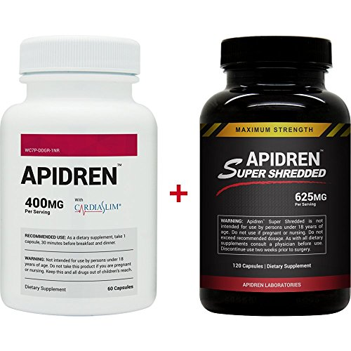 Apidren and Apidren Super Shredded - Diet Pill Combo Pack