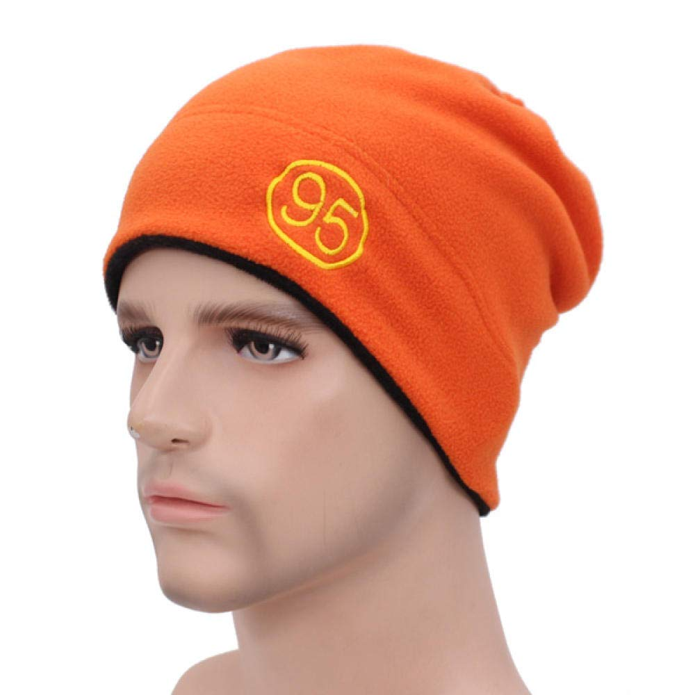 Skullies Beanies Knitted Hat Scarf Beanie Men Women Mask Male Balaclava Gorras Bonnet Winter Hatsfor Men Ring Hats Caps@Orange