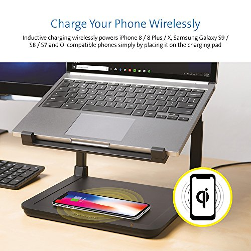 Kensington SmartFit Ergonomic Laptop Riser for up to 15.6-Inch Laptops with Qi Wireless Phone Charging Pad by Kensington (Image #2)