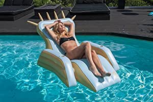 Cococabana Inflatable Throne Lounger with Optional Speaker Addition (Optional Blue Tooth Speaker Purchased Seperately)