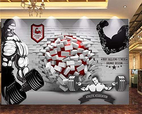 Ansyny 任意のサイズの壁紙3D壊れた壁フィットネスホールエンターテイメント装飾的な背景の壁紙壁3 dをカスタマイズします。-400X240CM