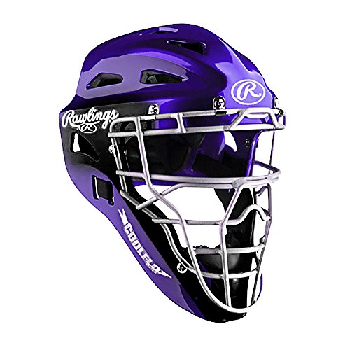 Rawlings Coolflo Hockey-Style Catcher's Helmet (Purple) (Helmet Catchers Purple)