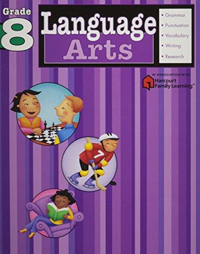 Language Arts: Grade 8 (Flash Kids Harcourt Family Learning)