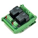 ELECTRONICS-SALON DIN Rail Mount Coil 24V Passive 2 Channel SPST-NO 30A 30Amp Power Relay Module.
