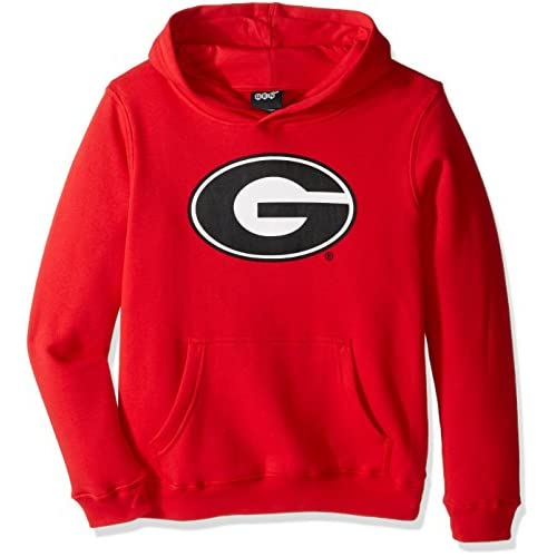 "NCAA Georgia Bulldogs Boys ""Primary Logo"" Hoodie, Red, Large (14-16)"