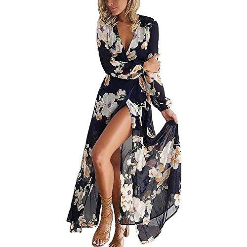 Printed Chiffon Long Dress - 7
