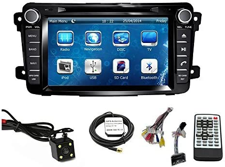 Car GPS Navigation System for MAZDA CX-9 2007 2008 2009 2010 2011 2012 2013 2014 2015 Double Din Car Stereo DVD Player 7 Inch Touch Screen TFT LCD Monitor In-dash DVD Video Receiver with Built-In Bluetooth TV Radio, Support Factory Steering Wheel Control, RDS SD USB iPod AV BT AUX IN Free Backup Camera Free GPS Map of USA
