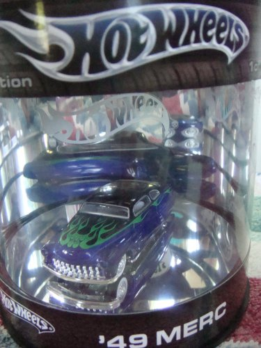 Hot Wheels '49 Mercury Limited Edition 1 of 15,000, Kustom issue, Blue with green flamz #2/4 1/64 2004 - Kustom Nail