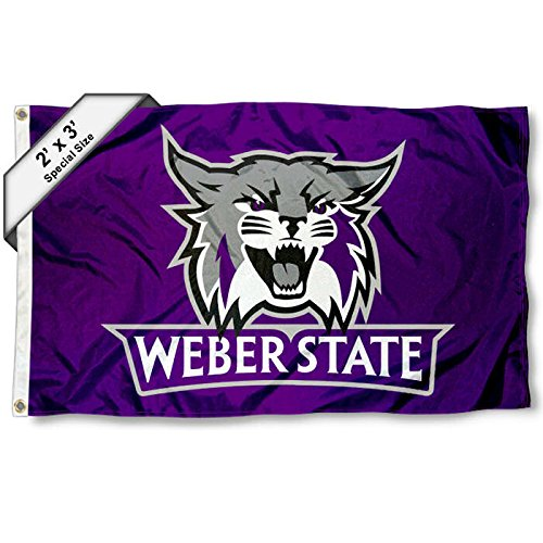 College Flags and Banners Co Weber State Wildcats 2x3 Foot Flag