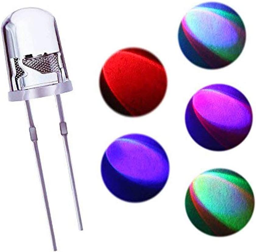 microtivity IL604 5mm RGB Slow-Rotating LED w//Resistors Pack of 30