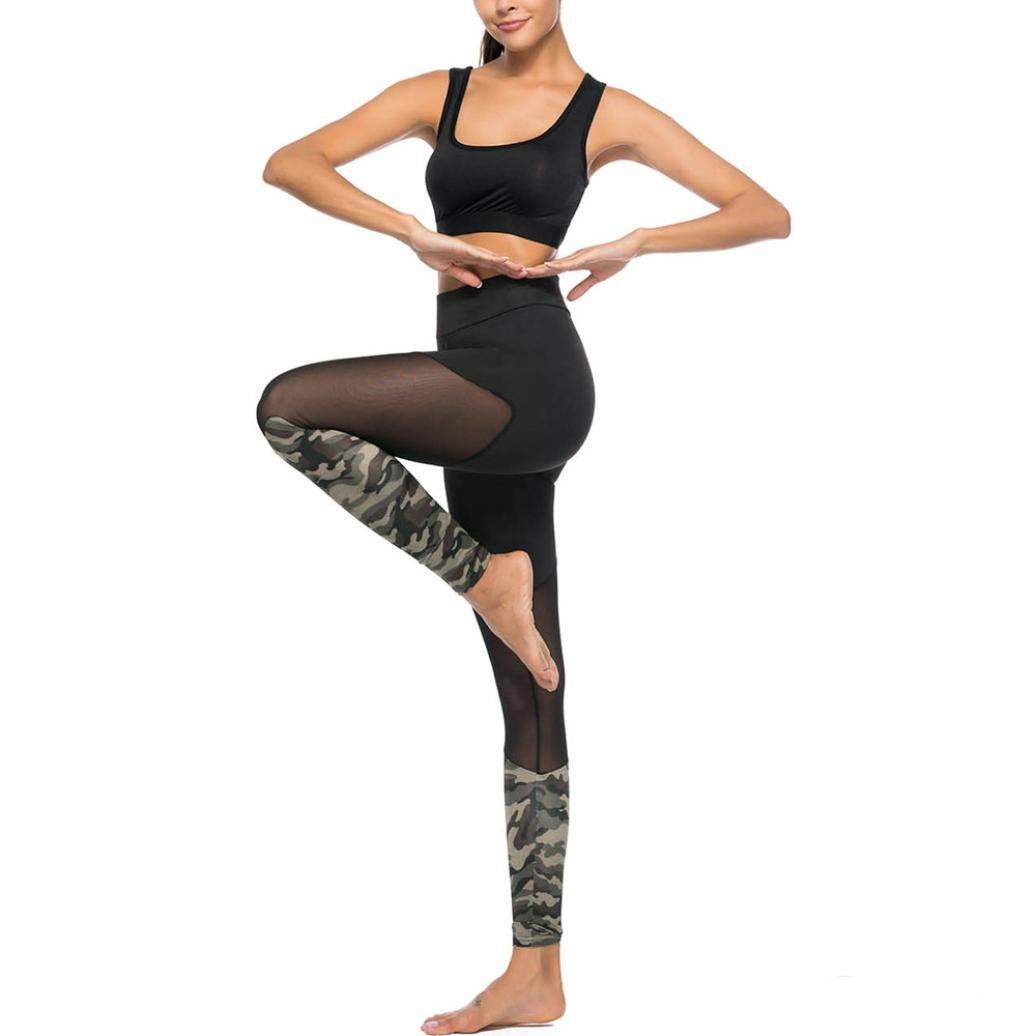 091473ea45a73b Memela Women's New Camo Stitching Leggings Casual Sports Yoga Pants Pencil  Pants at Amazon Women's Clothing store: