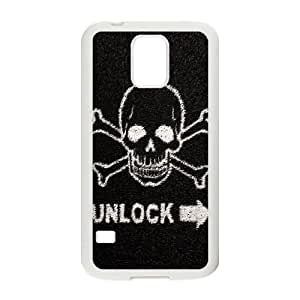 Death Skull Lockscreen Samsung Galaxy S5 Cell Phone Case White DIY Gift xxy002_5032840