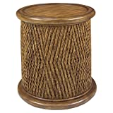 Progressive Furniture A717-68 Turk Round Woven Drum Table, Tea