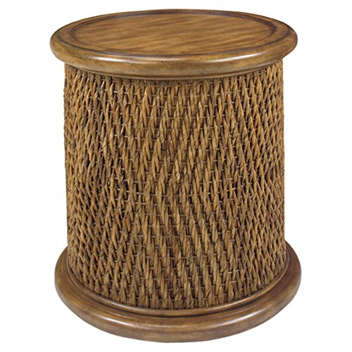 Round Woven Drum Table Tea - Woven Tea Cart