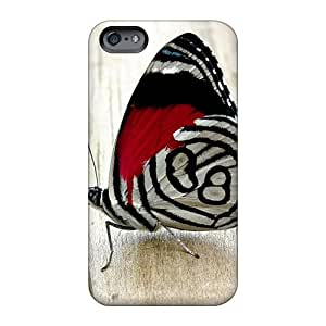 Bumper Cell-phone Hard Cover For Apple Iphone 6 (OxI8334PQHR) Unique Design Vivid Butterfly Skin