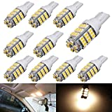 AUTOUS90 10 x RV Trailer T10 921 194 168 2825 42-SMD 12V Backup Reverse LED Warm White Lights Bulbs
