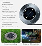 Disk Lights 4-LED Solar-powered Auto On/Off Outdoor Lighting As Seen On TV (Set of 4; Original)