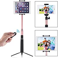 PERLESMITH Selfie Stick with Bluetooth Remote and Tripod Stand - Extends 80cm - Wireless - for Group Photos and Prevents Shakiness - Fits iPhone 7 6S 6 Plus, Samsung, iPad, Tablets, Android, Kindle