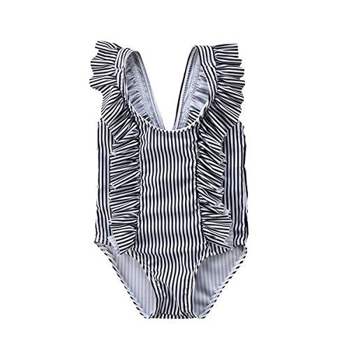 c4cc3afb852cd ITFABS Newborn Baby Girl Floral Swimsuit Ruffles Bathing Suit Bikini  Striped Swimwear for Baby Girls Beach