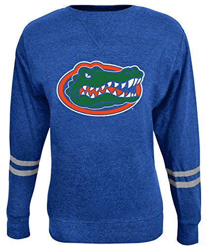 Alta Gracia NCAA Florida Gators Women's Crew 50/50 Fleece Top, Blue, X-Large