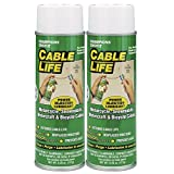 Protect All 25006-02 Cable Life Lubricant Aerosol, 6.25 fl. oz., 2 Pack