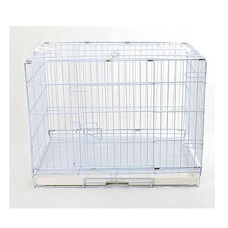 Jaula para perros Transportín Box plegable con rejilla fondo M 78 ...