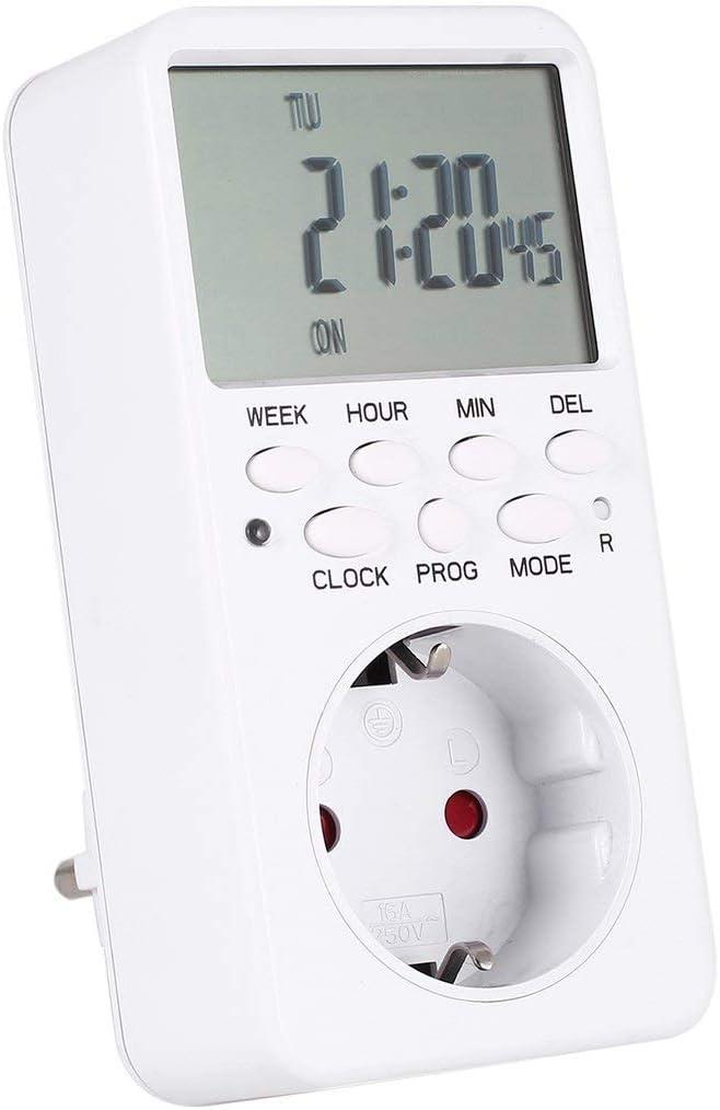 SaraHew74 Mini Digital LCD 230V 16A Minuterie Commutateur Prise De Charge Plug-in Temps Compte /à rebours /Économie D/énergie Contr/ôleur /Électronique Programmable