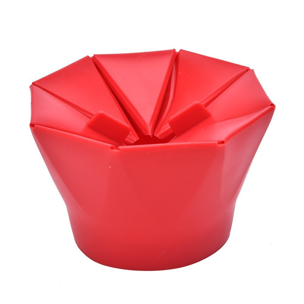 lilystore silicona palomitero, microondas palomitas de maiz poppers rosso: Amazon.es: Hogar