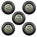 5-Pack EEEkit Hygrometer Thermometer Digital LCD Monitor Indoor Outdoor Humidity Meter Gauge