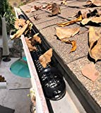 60 Gutter Cups Gutter Guards - 90 Feet Long - Best DIY Gutter Protection from leaves and pine needles