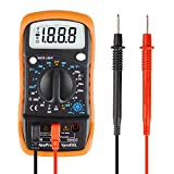 WeePro Vpro850L Digital Multimeter with Ohm Volt Amp Resistance Current Test Non Contact Voltmeter Ohmmeter Electrical Multitester Continuity Detector with Backlit and Insulated Rubber Case Kickstand