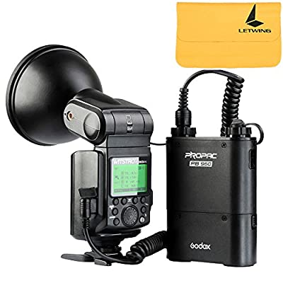Godox Witstro AD360II-N TTL 360W GN80 Powerful Speedlite Flash Light + 4500mAh PB960 Lithium Battery for Nikon Camera (AD360II-N Black) from Godox