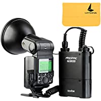 Godox Witstro AD360II-N TTL 360W GN80 Powerful Speedlite Flash Light + 4500mAh PB960 Lithium Battery for Nikon Camera (AD360II-N Black)