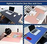 PU Leather Office Desk Blotter Pad Mat for Desktop