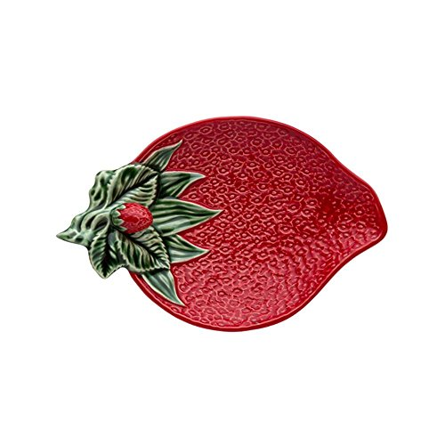 Bordallo Pinheiro Strawberries Olive Dish by Bordallo Pinheiro