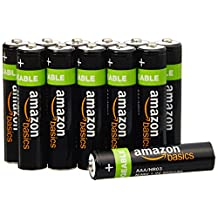 AmazonBasics AAA NiMH Precharged Rechargeable Batteries (12-Pack, 800 mAh)