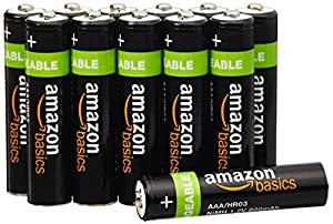 Amazon.com: AmazonBasics AAA Rechargeable Batteries (12