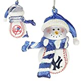 Scottish Christmas New York Yankees Home Run Snowman Ornament