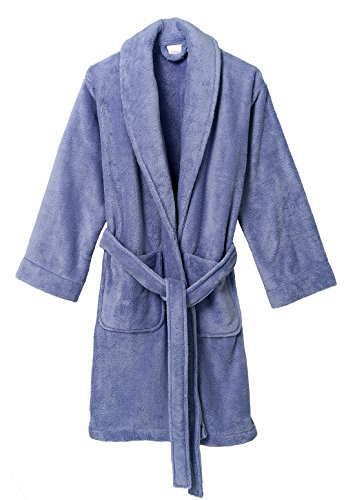 (TowelSelections Women's Robe, Plush Fleece Short Spa Bathrobe Medium Deep Periwinkle)