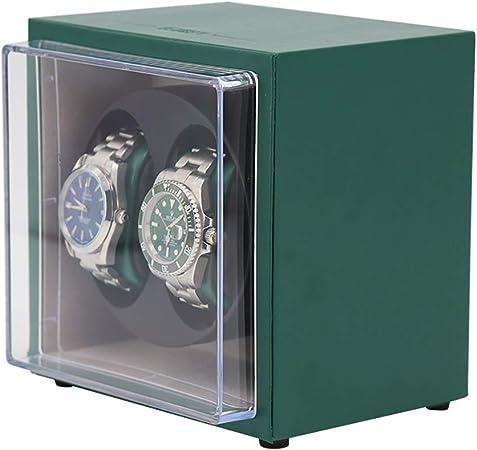 CHHMAELOVE Estuche Bobinadora para 2 Relojes,Cargador para Relojes AutomáTicos,Caja para Reloje Estuche Bobinadora Doble,Estuche Bobinadora para Relojes Caja para Reloje,GreenB: Amazon.es: Hogar