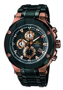 CASIO Edifice Gold Label EFX-500SP-1AVEF - Reloj de caballero de cuarzo, correa de acero inoxidable color negro (con cronómetro)