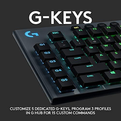 Logitech G915 Wireless Mechanical Gaming Keyboard (Clicky)