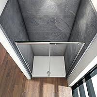 100x195cm Mamparas de ducha puerta de ducha 6mm vidrio templado de ...