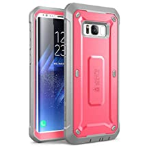 Galaxy S8+ Plus Case, SUPCASE Full-body Rugged Holster Case WITHOUT Screen Protector for Samsung Galaxy S8+ Plus (2017 Release), Unicorn Beetle PRO Series - Retail Package (Pink/Gray)