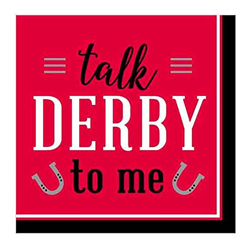 Kentucky Derby 'Talk Derby to Me' Small Napkins (16ct) - Derby Flatware