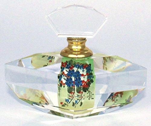 (Hand-Painted Multi-cut Crystal Perfume Bottle - PBF08-878)