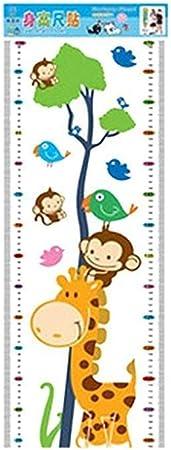 Toise Enfant R/ègle Stickers Grandissez Mesure Amovible Vie Int/érieure Imperm/éable Coton Pratique