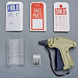 Syntrific Clothes 9S Standard Tag Gun with 1000 Piece Standard Tag Pin Easy to Load Plus 5 Piece NZ202 Needles,Plus 1000 Pieces Price Tag Perfect for Consignment Sale, Family Yard