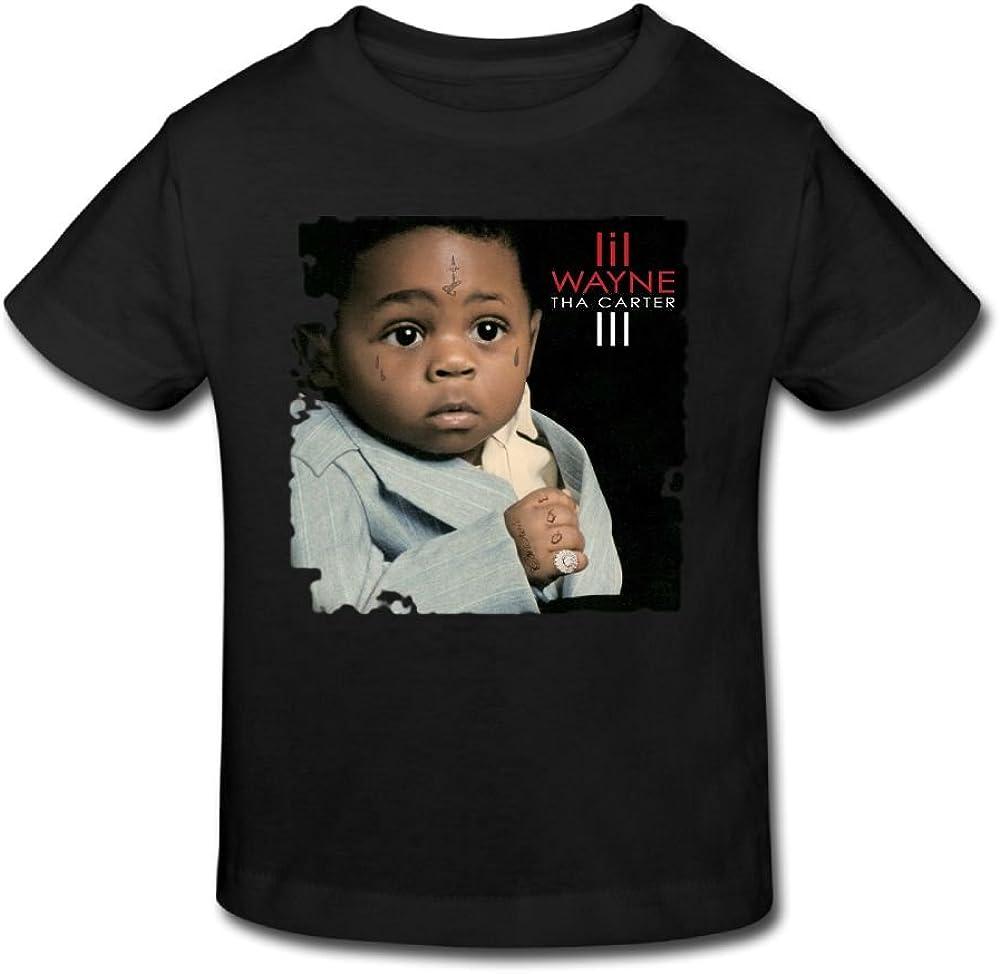 Loyd D Lil Wayne Tha Carter III Kids CuteTees for Girls /& Boys T Shirt Black